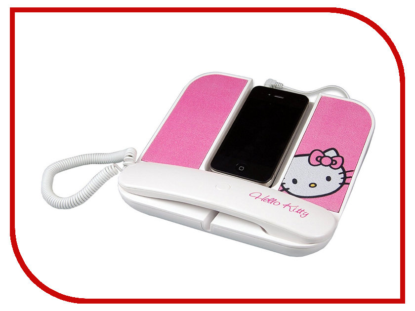 Детский телефон-гарнитура Hello Kitty Jack 3.5mm White 150665