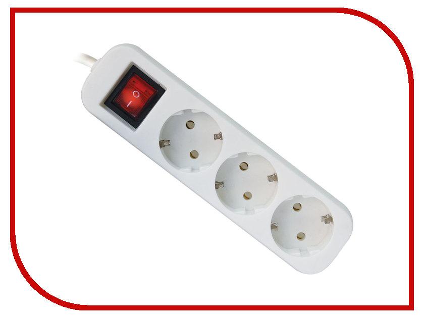 Сетевой фильтр Defender S350 3 Sockets 5.0m 99235