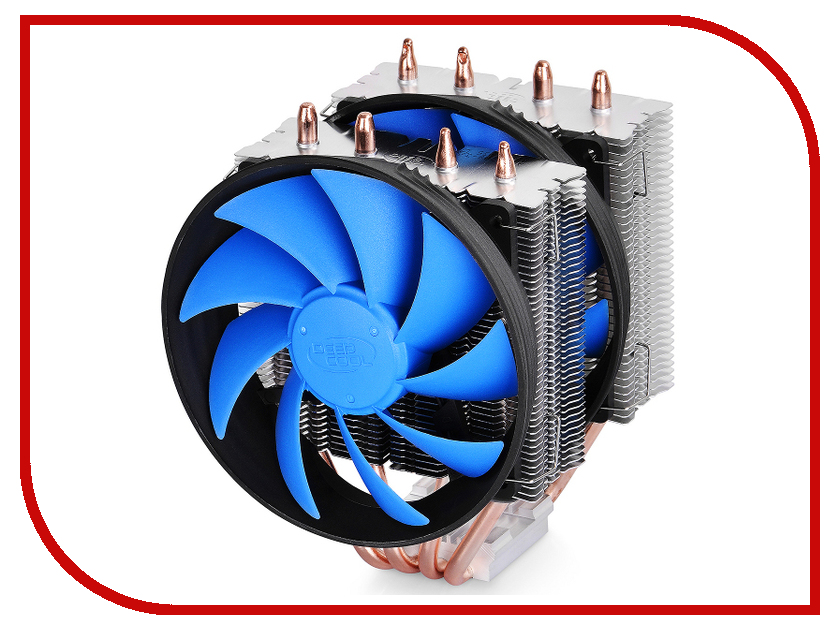 Кулер DeepCool Frostwin V2.0 (Intel S2011/S1155/S1150/S1156/S1366/S775/AMD AM2/AM2+/AM3/AM3+/FM1) пудра ga de ga de ga022lwngf42