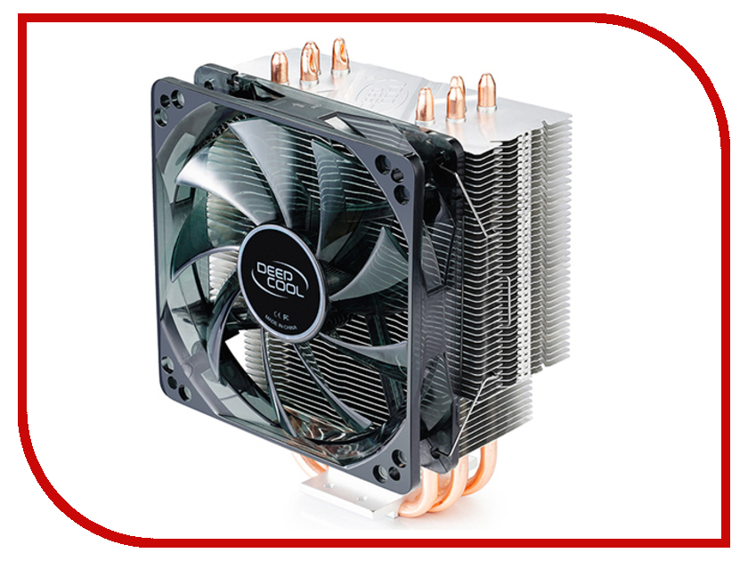Кулер DeepCool Gammaxx 400 Red (Intel LGA2011-V3/2011/1366/1156/55/51/50/775/AMD FM2+/FM2/FM1/AM3+/AM3/AM2+/AM2/AM4) вентилятор deepcool gammaxx 300 soc 1150 1155 1156 am3 fm1 fm2