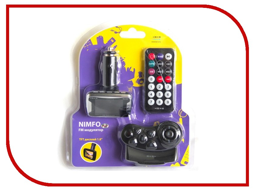 FM-Трансмиттер KS-is Nimfo KS-069<br>
