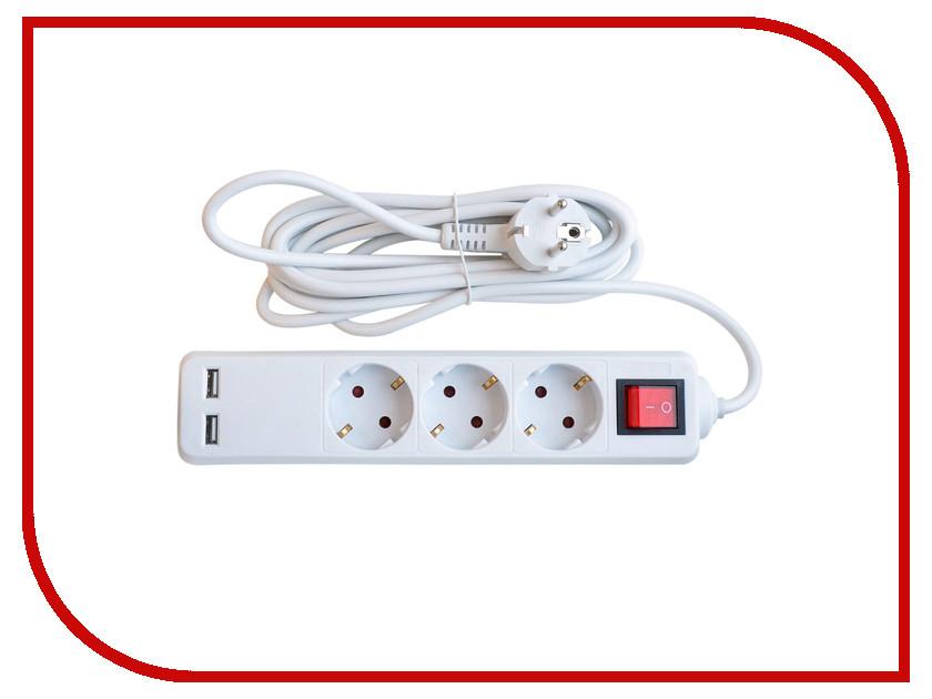 Сетевой фильтр IN HOME 3GSU-5-SMART 5m 8535 / 4690612010434