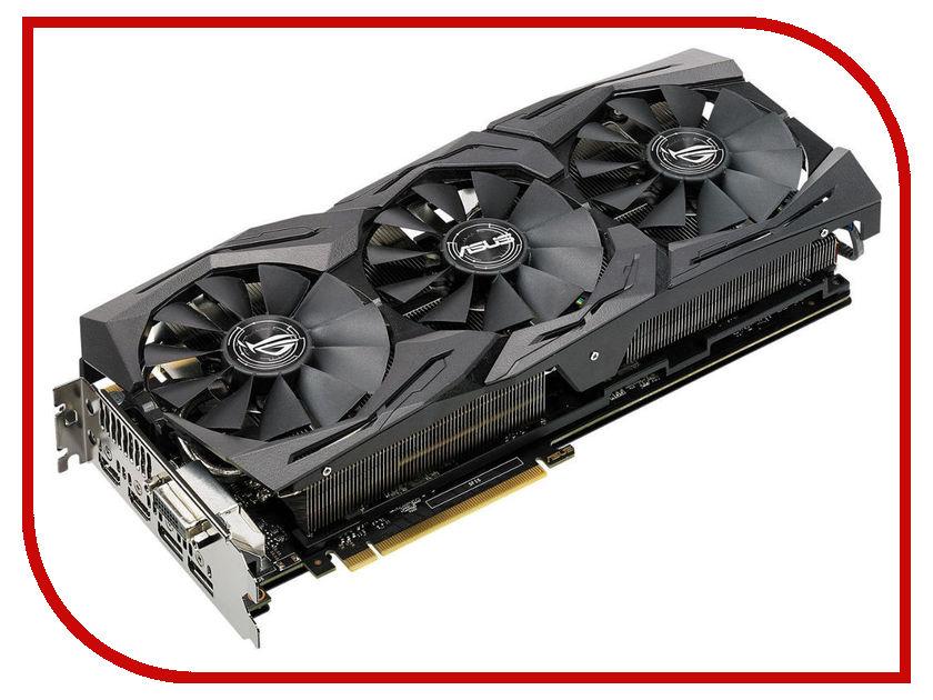 Видеокарта ASUS GeForce GTX 1080 1695Mhz PCI-E 3.0 8192Mb 11010Mhz 256 bit DVI 2xHDMI HDCP Strix OC ROG-STRIX-GTX1080-O8G-11GBPS