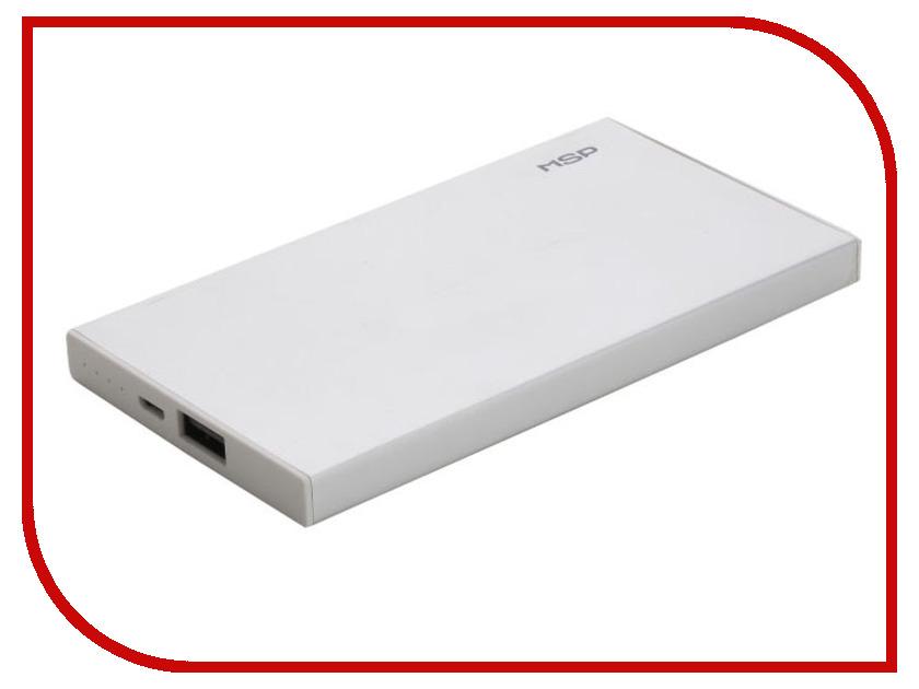 Аккумулятор MSP Boss 1xUSB 5000 mAh Silver 90648
