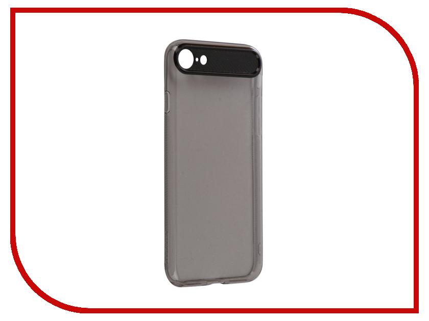 Аксессуар Чехол ROCK Space Ace для iPhone 7 Transparent-Black 76444 аксессуар чехол rock space guard g2 для iphone 7 plus transparent white 47475