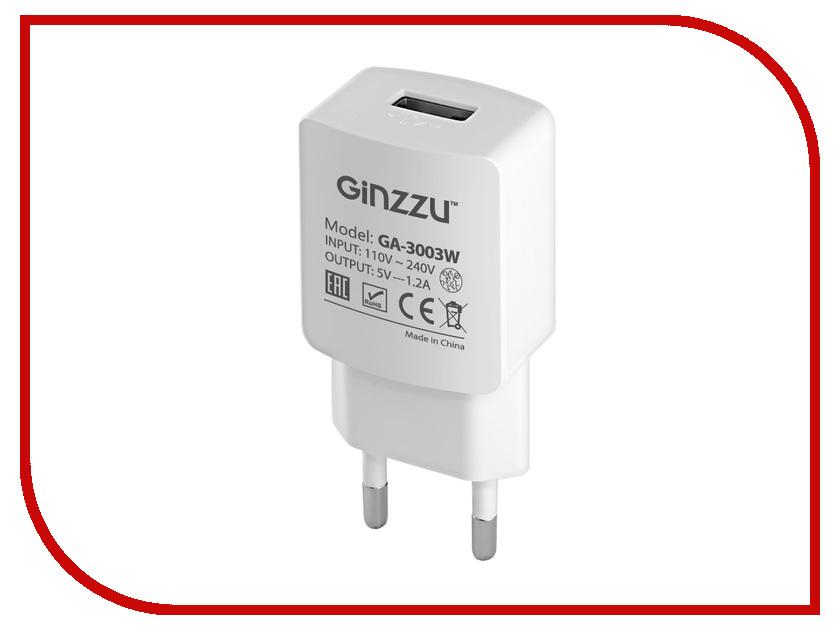 Зарядное устройство Ginzzu USB 1.2A White GA-3003W ginzzu s4510 аккумулятор