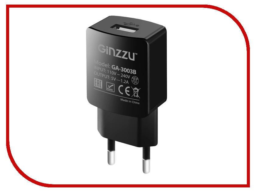 Зарядное устройство Ginzzu USB 1.2A Black GA-3003B ручной пылесос handstick ginzzu vs407 90вт черный