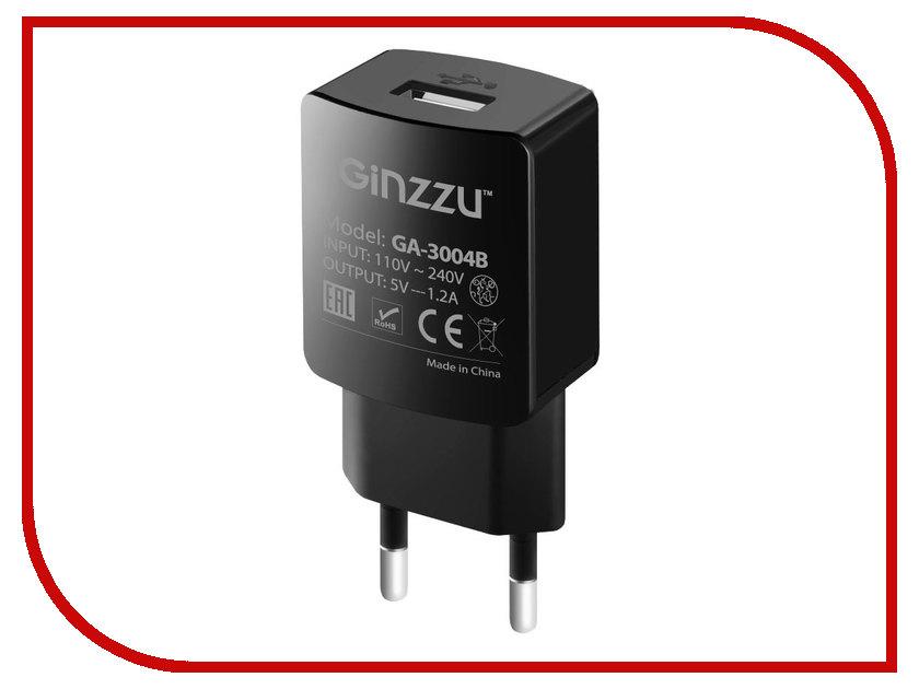 Зарядное устройство Ginzzu USB 1.2A Black GA-3004B ginzzu азу ginzzu ga 4105b usb 1a универсальное black