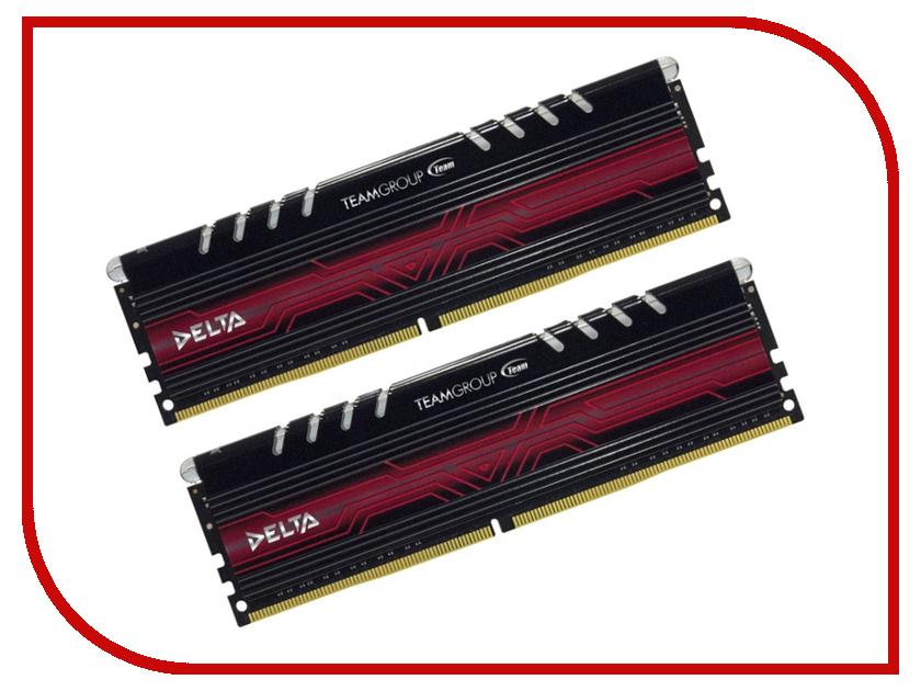 Модуль памяти Team Group Delta Red UD-D4 DDR4 DIMM 3000MHz PC4-24000 CL16 - 16Gb KIT (2x8Gb) TDTRD416G3000HC16CDC01