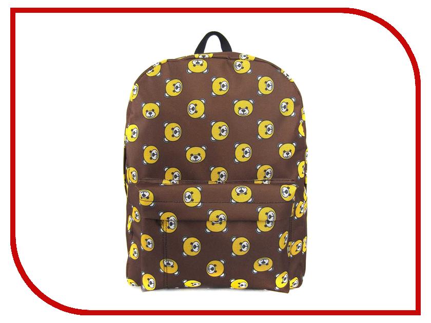 Рюкзак Creative Мишки с карманом LLC Brown GL-BC874