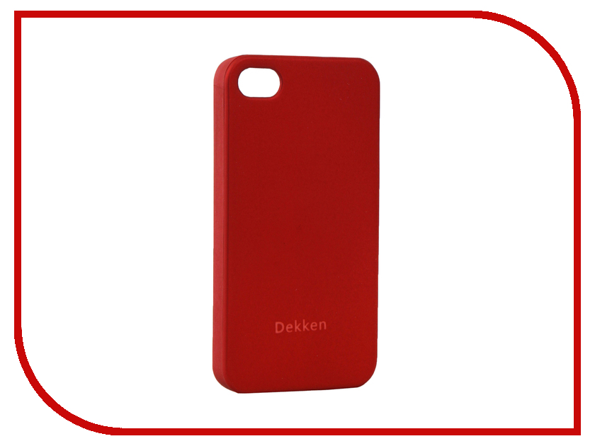 Аксессуар Чехол-накладка Dekken Soft Touch для APPLE iPhone 4/4S Red 20328 3 7v 3500mah rechargeable li ion battery for samsung galaxy note iii gt 9000 9005 9002