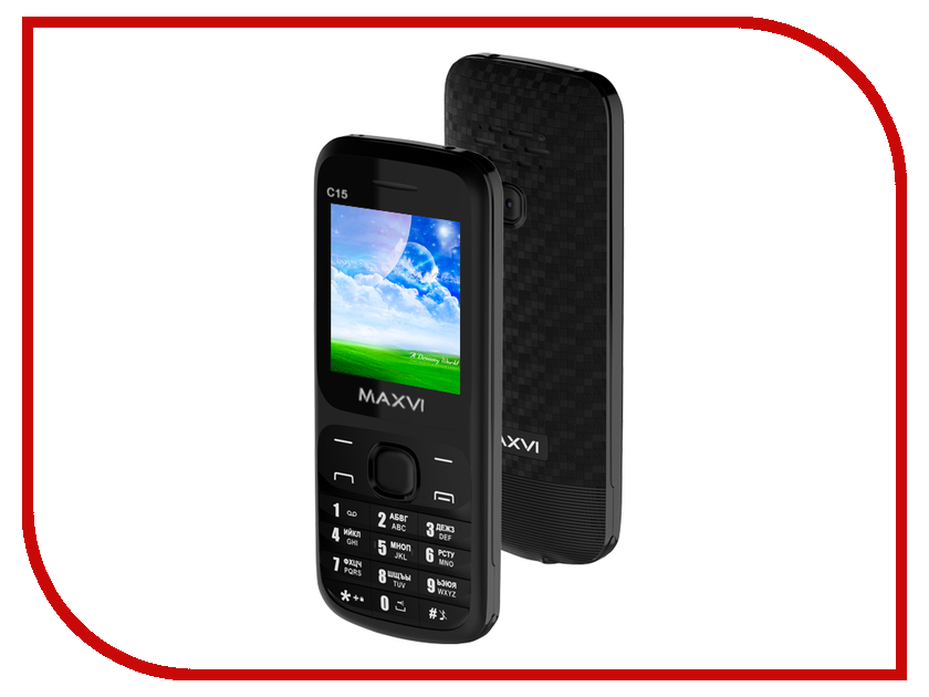 Сотовый телефон Maxvi C15 Black телефон
