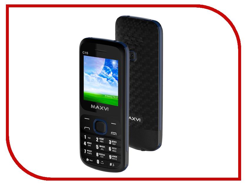 Сотовый телефон Maxvi C15 Black-Blue сотовый телефон archos sense 55dc 503438