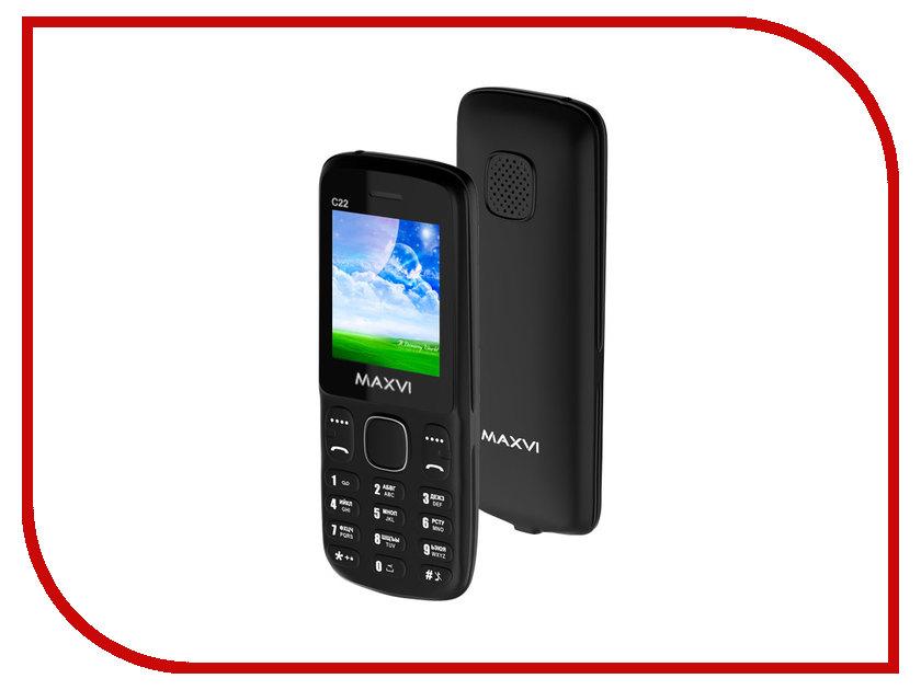 Сотовый телефон Maxvi C22 Black сотовый телефон maxvi x850 gold