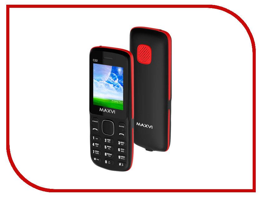 Сотовый телефон Maxvi C22 Black Red