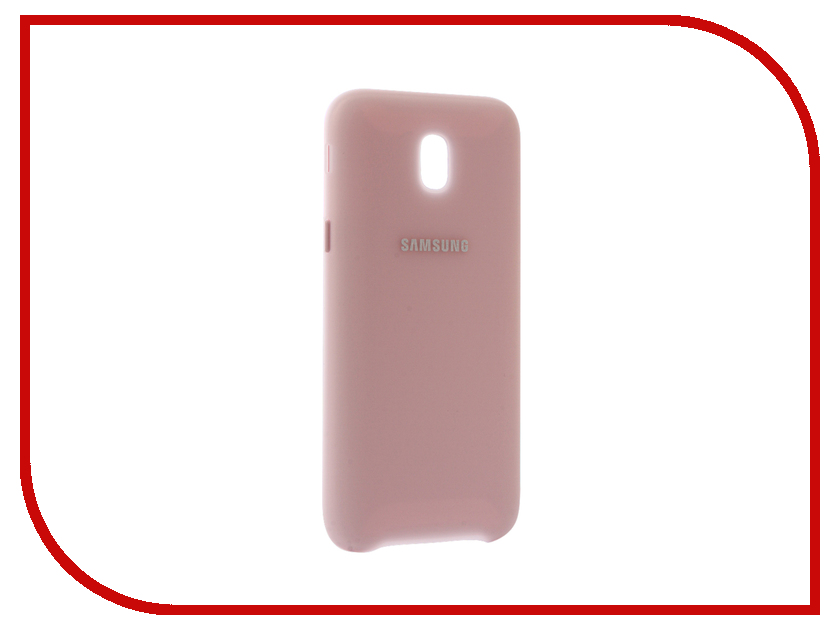Аксессуар Чехол Samsung Galaxy J5 2017 SM-J530 Layer Cover Pink SAM-EF-PJ530CPEGRU чехол samsung ef pj530cpegru для samsung galaxy j5 2017 dual layer cover розовый