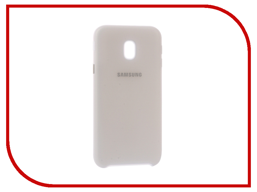 Аксессуар Чехол Samsung Galaxy J3 2017 SM-J330 Layer Cover White SAM-EF-PJ330CWEGRU аксессуар чехол накладка samsung sm g928 galaxy s6 edge clear cover silver sam ef qg928csegru