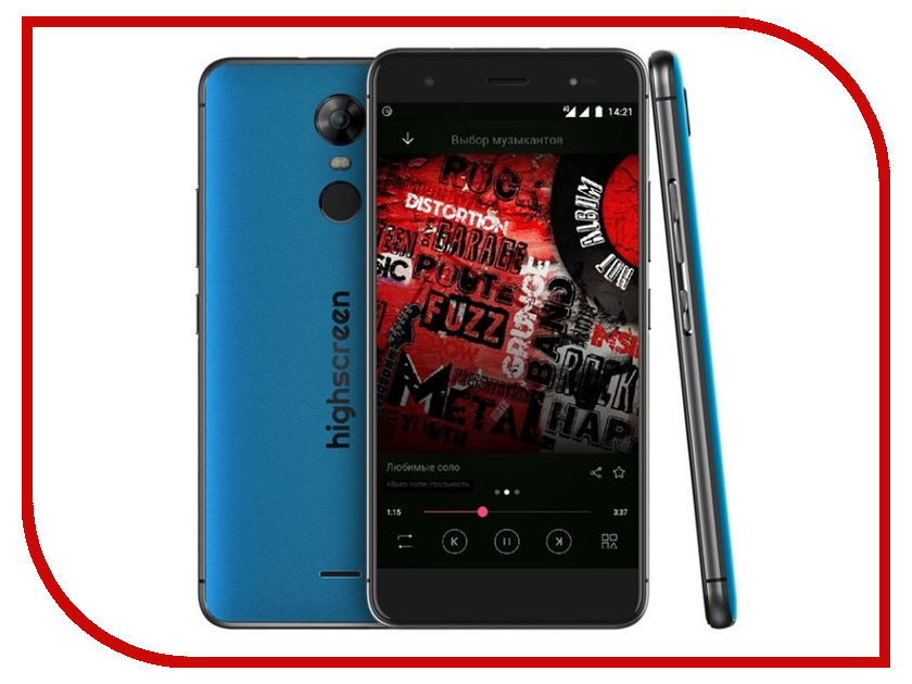 Сотовый телефон Highscreen Fest XL Blue оригинальный чехол флип для highscreen fest xl xl pro