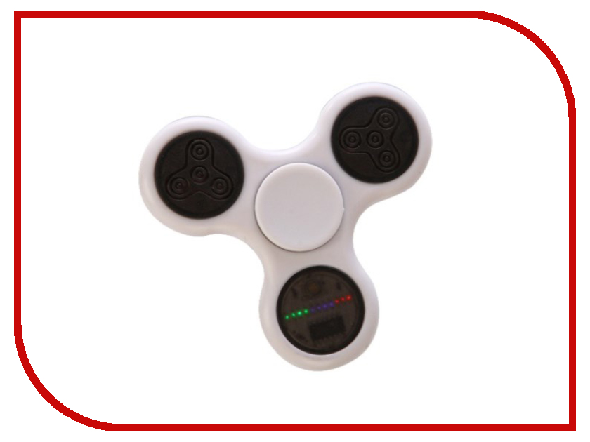 купить Спиннер Fidget Spinner / Red Line B1 световой узор пластик White недорого