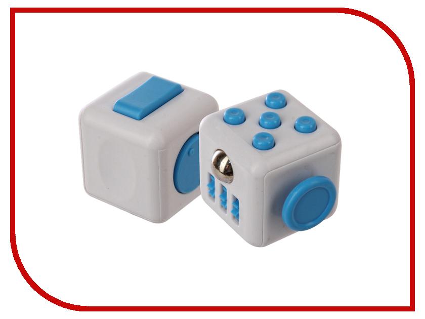 Игрушка антистресс Fidget Cube White-Light-Blue