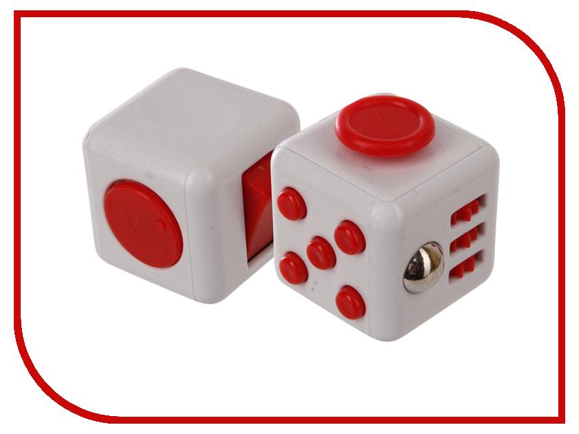 Игрушка антистресс Fidget Cube White-Red