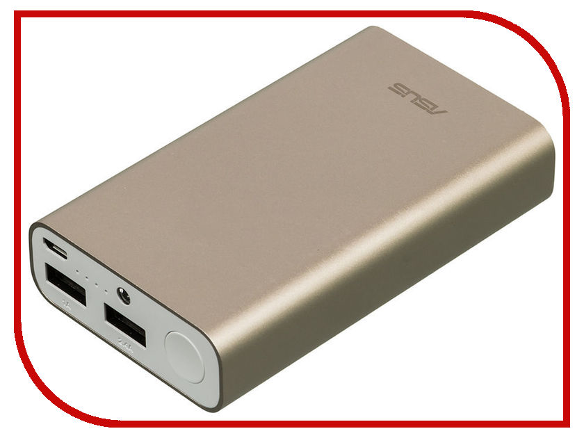 Аккумулятор Asus ZenPower ABTU011 10050mAh Gold 90AC0180-BBT018 мобильный аккумулятор asus zenpower abtu011 li ion 10050mah 2 4a золотистый 2xusb