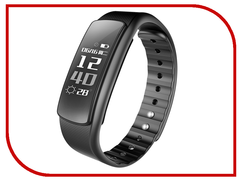 Умный браслет iWOWN I6HR Black iwown v6 bluetooth headset smart bracelet