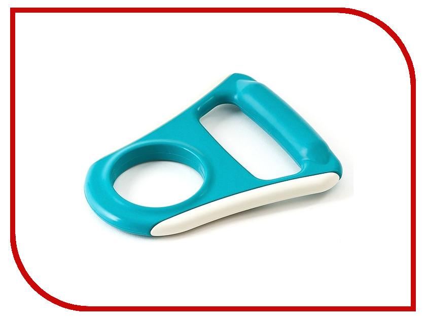 Ручка для бутылей обрезиненная плоская AEL 70075 Light-Blue