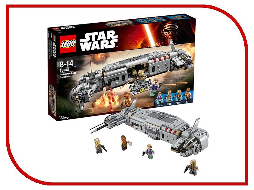 Конструктор Lego Звездные войны Военный транспорт Сопротивления 75140 а1471хx lego игровой коврик звездные войны