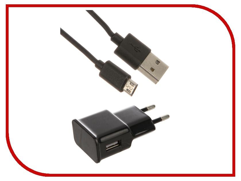 Зарядное устройство Dekken USB 2.1A + кабель microUSB Black 20904