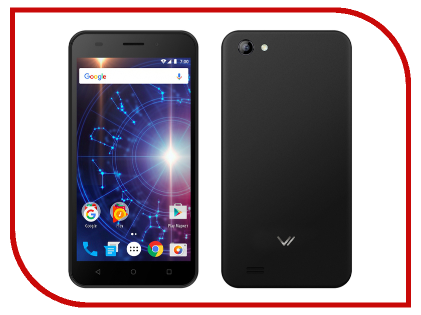 Сотовый телефон Vertex Impress Luck Black сотовый телефон vertex impress lion dual cam black