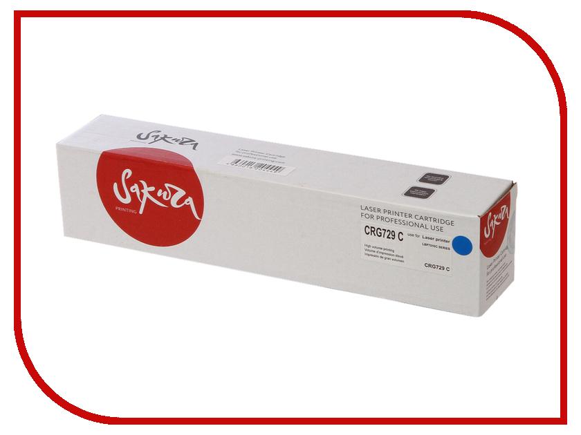 Картридж Sakura SACRG729C Cyan для Canon LBP7010C/7018C 1000к