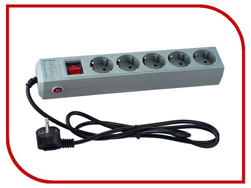 Сетевой фильтр Perfeo 5 Sockets 1.8m Grey PF-SP-5/1.8-G