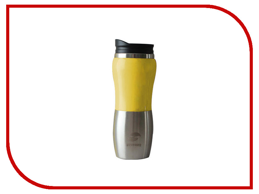 Термокружка Stinger 400ml Silver-Yellow HY-AM642-Y