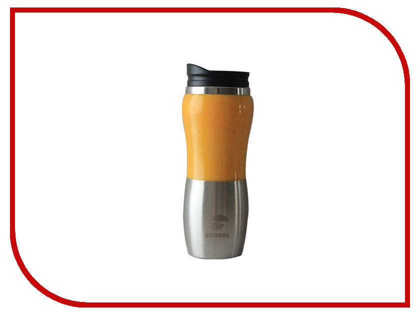 Термокружка Stinger 400ml Silver-Orange HY-AM642-O