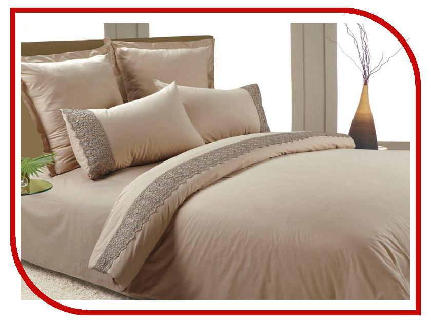 Постельное белье Valtery AB-SG 01 Комплект 1.5 спальный Перкаль + гипюр<br>