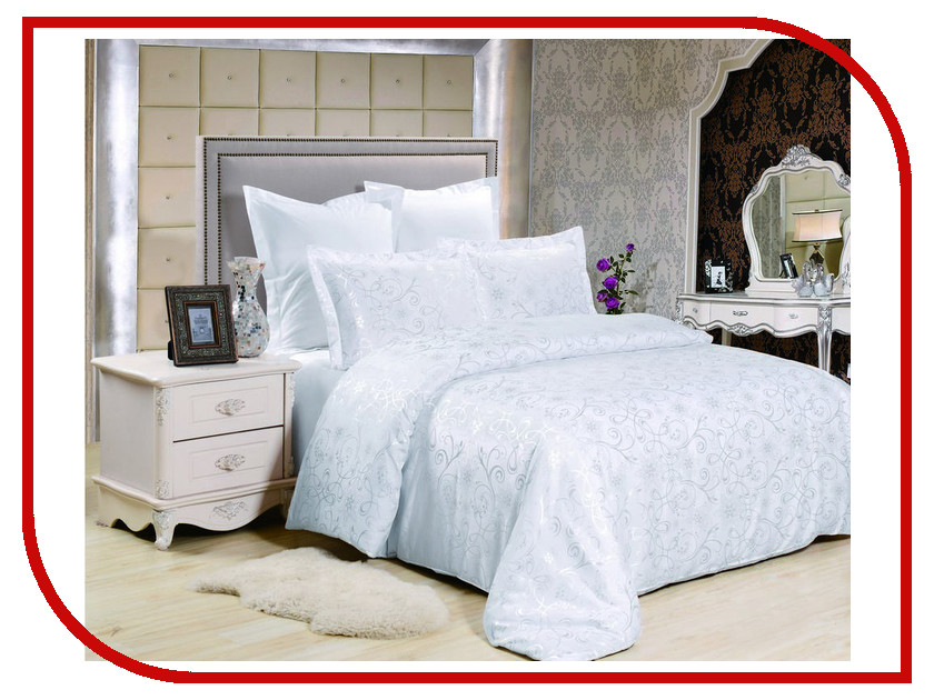 Постельное белье Valtery JC-125 Комплект 2 спальный Сатин + жаккард постельное белье valtery jc 29 комплект евро сатин жаккард