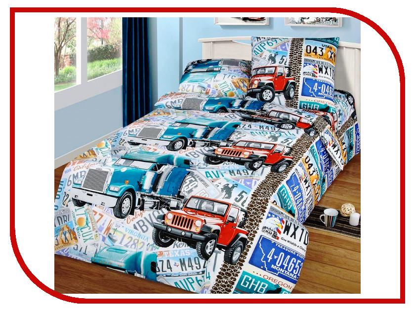 Постельное белье Valtery ДБ-47 Комплект 1.5 спальный Бязь
