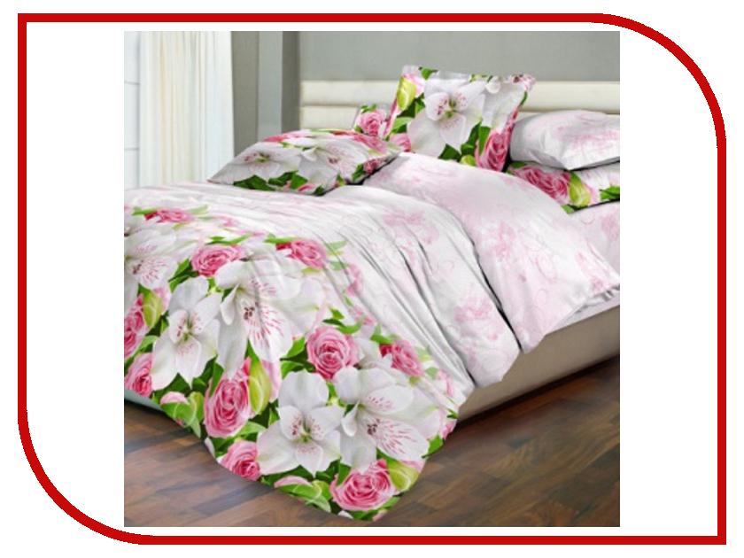 Постельное белье Хлопковый Рай Нежный букет Комплект 1.5 спальный Бязь