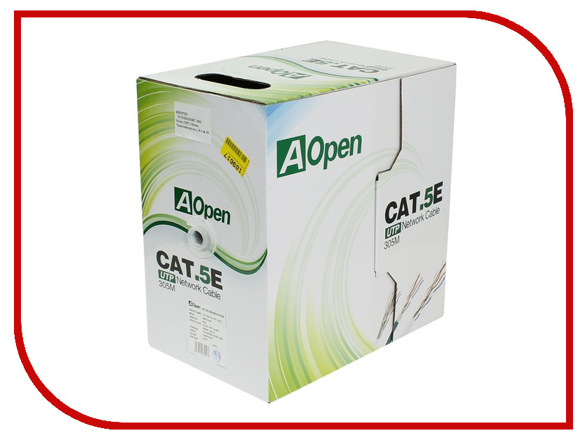 Сетевой кабель AOpen Light UTP cat.5e аксессуар aopen utp cat 5e anp511 5m blue