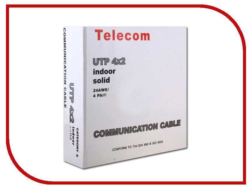 сетевые кабели (патч-корды и бухты)   Сетевой кабель Telecom UTP cat.6 0.5m