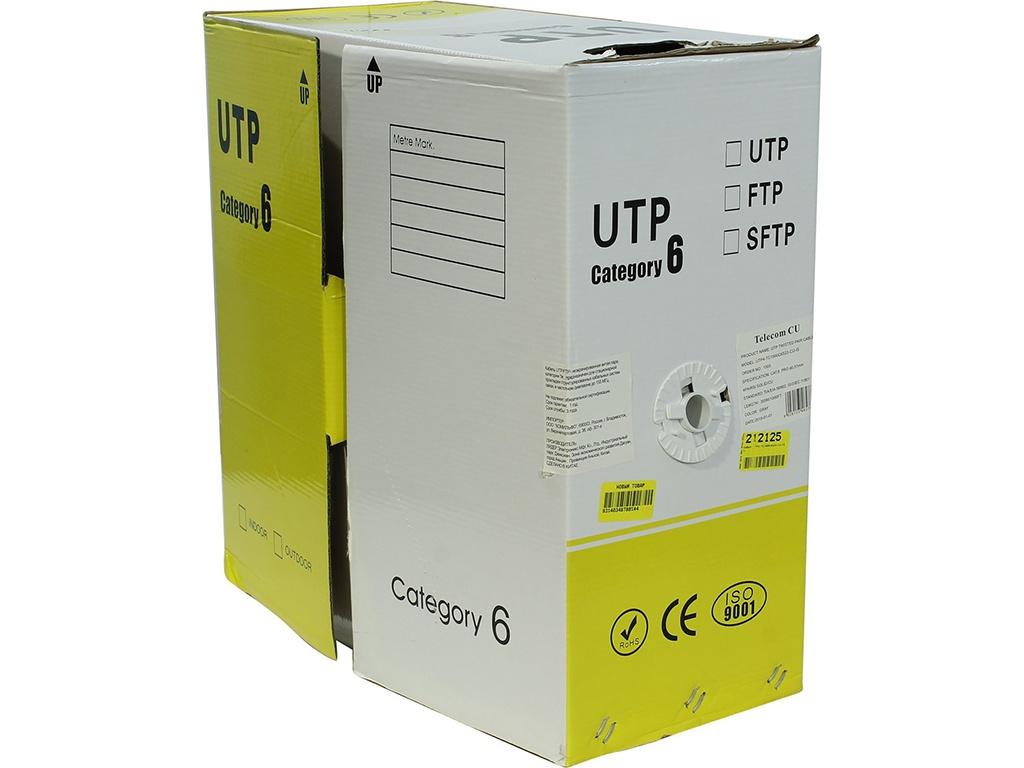 Сетевой кабель Telecom CU UTP cat.6