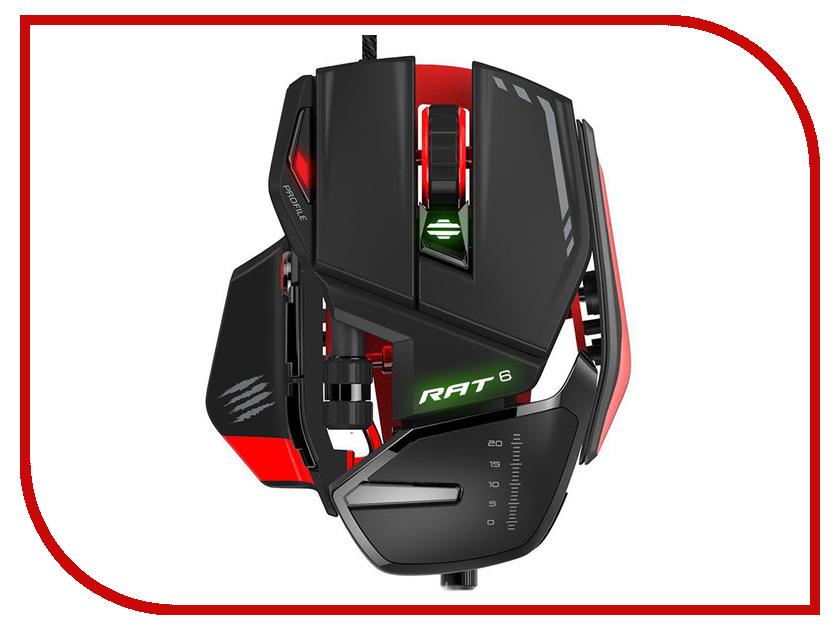 Мышь Mad Catz RAT 6 Black-Red MCB4373200A3/04/1 гаджет геймпад mad catz c t r l i mobile gamepad gloss orange mcb312630a10 04 1