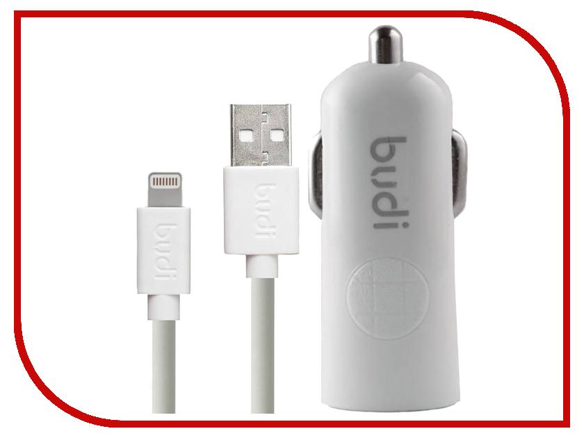 Зарядное устройство Budi M8J062L 2.4A + Lightning Cable White