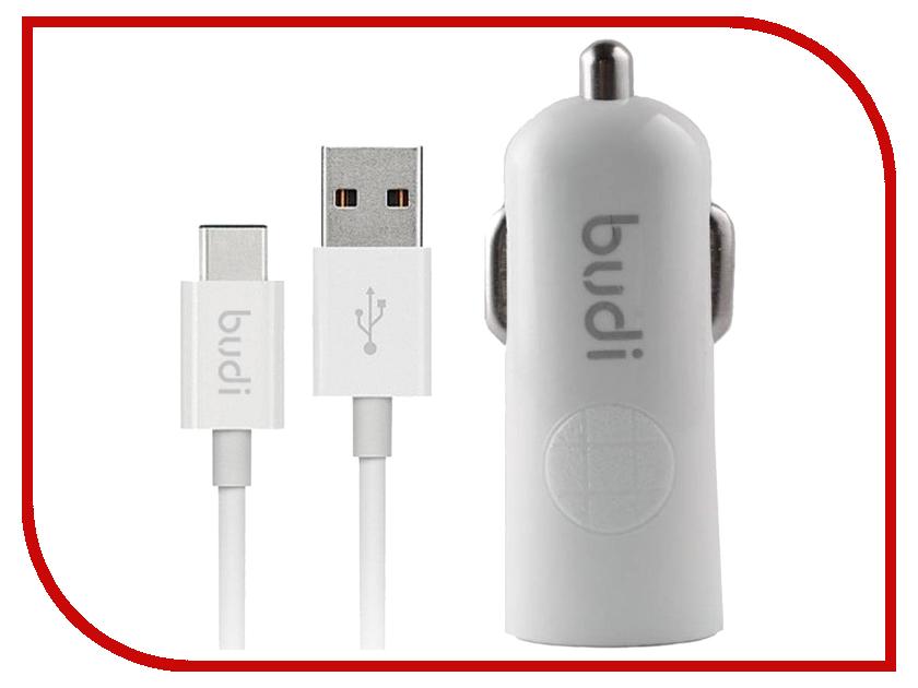 Зарядное устройство Budi M8J062T 2.4A + Type-C cable White зарядное устройство budi m8j065 3 1a lightning cable white