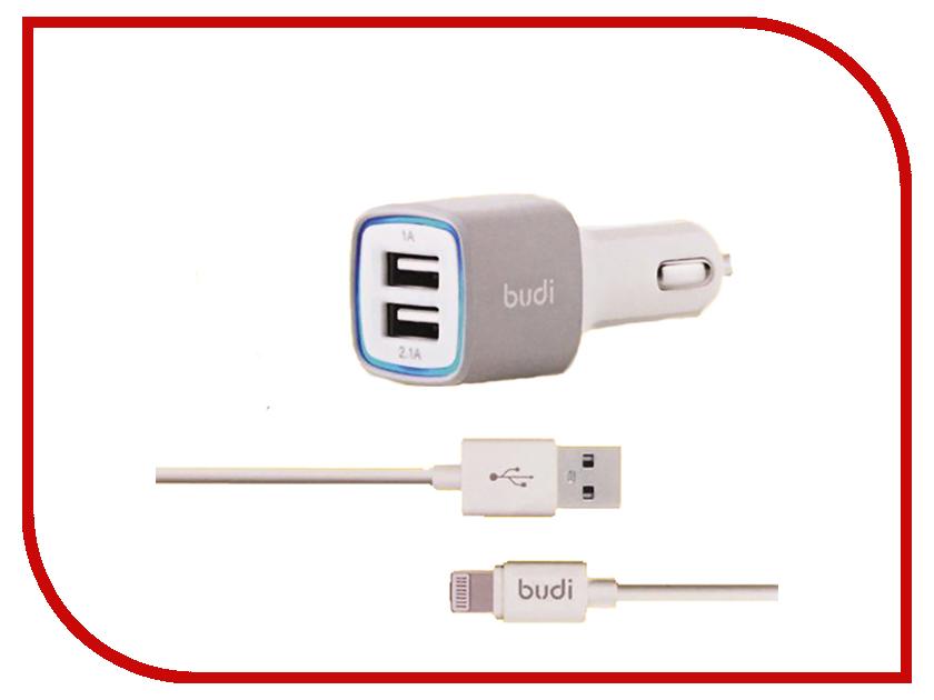 Зарядное устройство Budi M8J065 3.1A + Lightning cable White