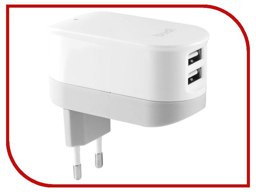 Зарядное устройство Budi M8J029E 2.4A White зарядное устройство budi m8j065 3 1a lightning cable white