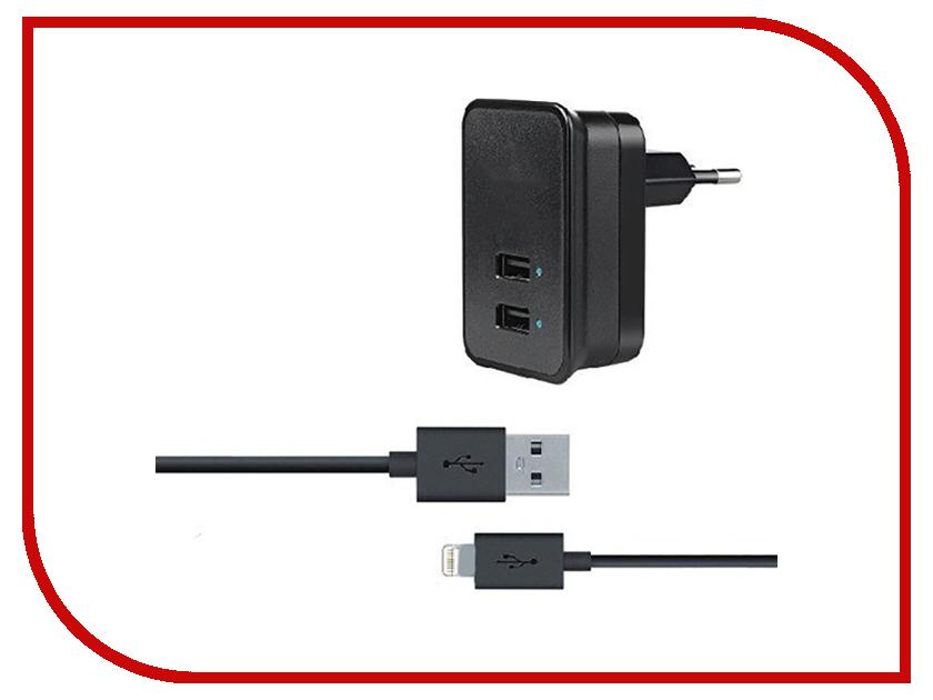 Зарядное устройство Budi M8J053E 2.1A + Lightning cable Black