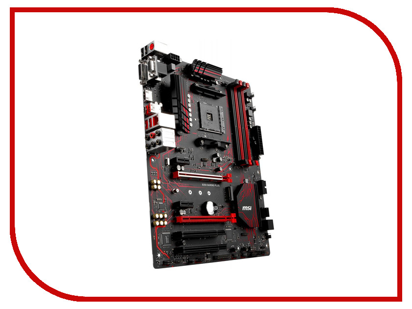 Материнская плата MSI B350 Gaming Plus maxsun maxsun мс b350d4 турбо материнская плата amd b350 гнездо ам4