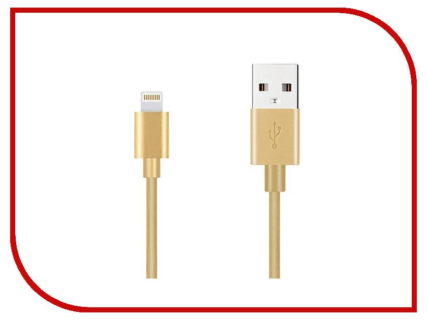 Аксессуар Budi USB - Lightning M8J023 1.2m Gold